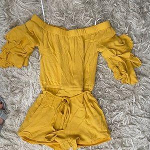 Lulus Yellow mustard romper